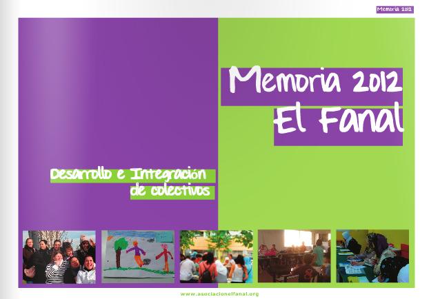 Memoria 2012 Asociación El Fanal