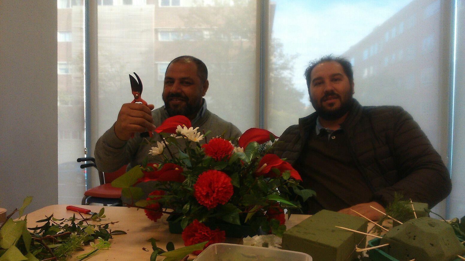 taller floristeria ramo rosas