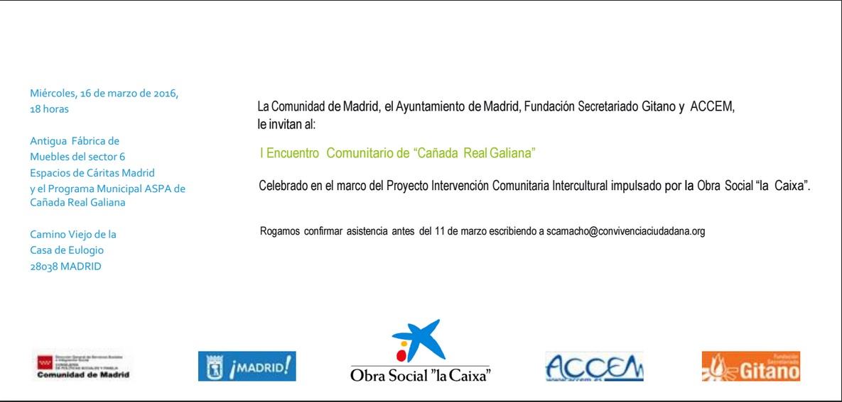 I Encuentro Comunitario de la Cañada Real