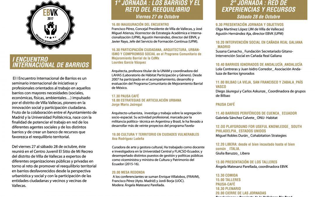 I Encuentro Internacional de Barrios